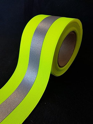 """3M SEW-ON GARMENT REFLECTIVE TAPE 2.25"""" BRITE LIME /9740"""