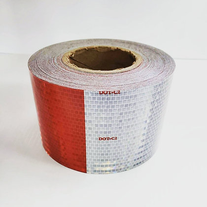 """AVERY DOT CONSPICUITY TAPE  V-5720-10  4""""x50yds  6x6  RED/WHITE (10 year)"""
