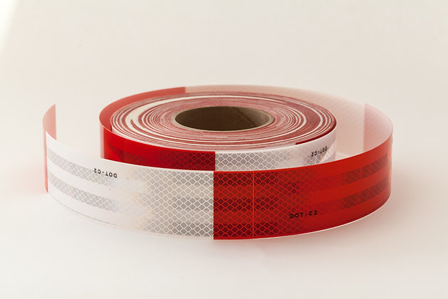 """3M DIAMOND GRADE DOT CONSPICUITY TAPE 983-326-2""""x50yds RED/WHITE  (10yrs)"""