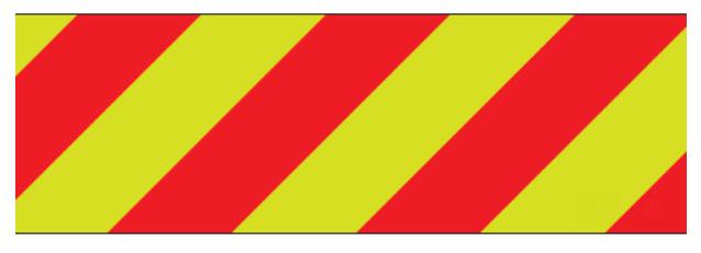 """ORAFOL V98-15""""x50yds Red/Lime Left Prismatic Sheeting"""