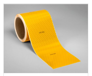 3M DIAMOND GRADE FRA-224 CONSPICUITY TAPE 983-21-4''x50yds FLUO YELLOW