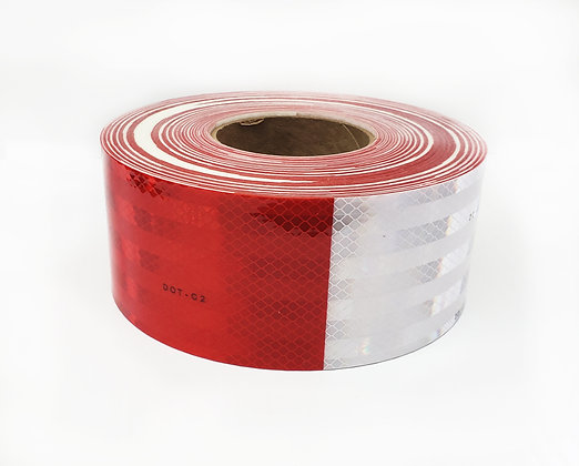"3M DIAMOND GRADE DOT CONSPICUITY TAPE TAPE 983-32-3""x50yds RED/WHITE"