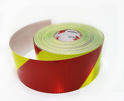 "ORAFOL V98-4""x50yds Red/Lime Left Conspicuity Material"
