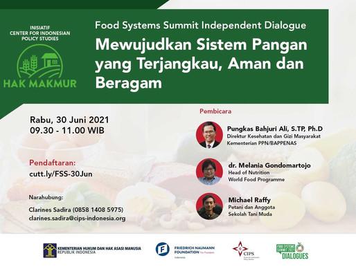 Laporan Acara | Food System Summit Mewujudkan Sistem Pangan yang Terjangkau, Aman, dan Beragam