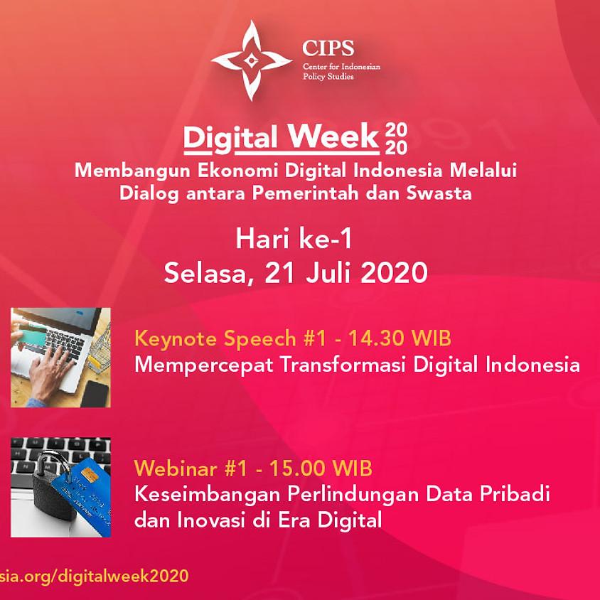 Digital Week 2020 - Keseimbangan Perlindungan Data Pribadi dan Inovasi di Era Digital
