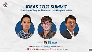 IDEAS 2021 SUMMIT | oleh PPI Belanda Bersama Sandiaga Uno, Alvin Cahyadi, dan Thomas Dewar