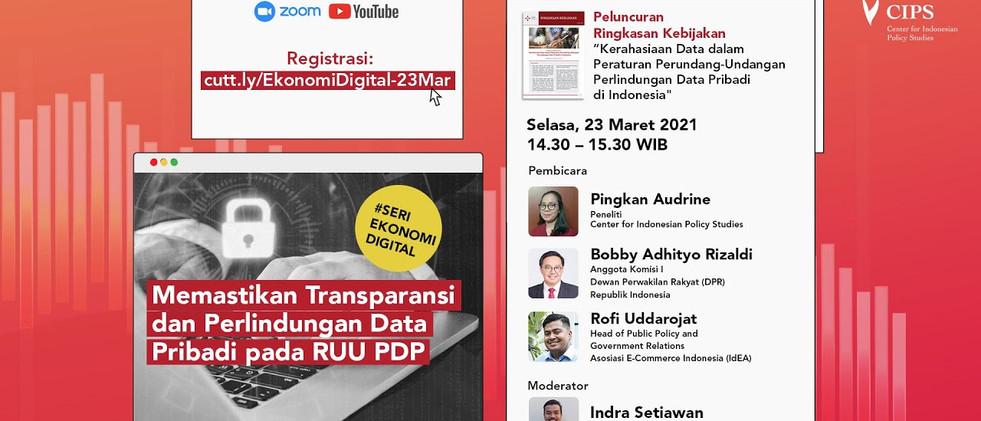 Webinar Memastikan Transparansi dan Perlindungan Data Pribadi pada RUU PDP