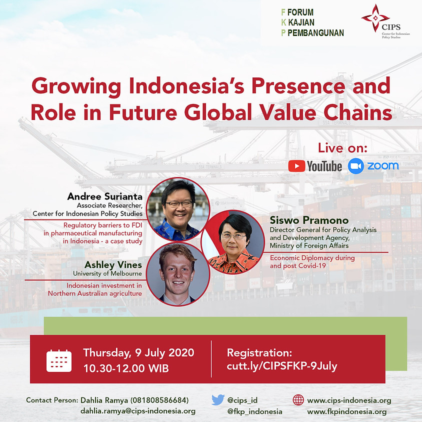 Growing Indonesia's presence and role in future Global Value Chains