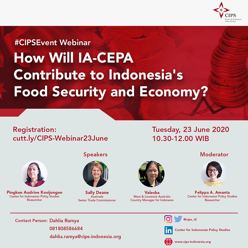 How Will IA-CEPA Contribute to Indonesia's Food Security & Economy?