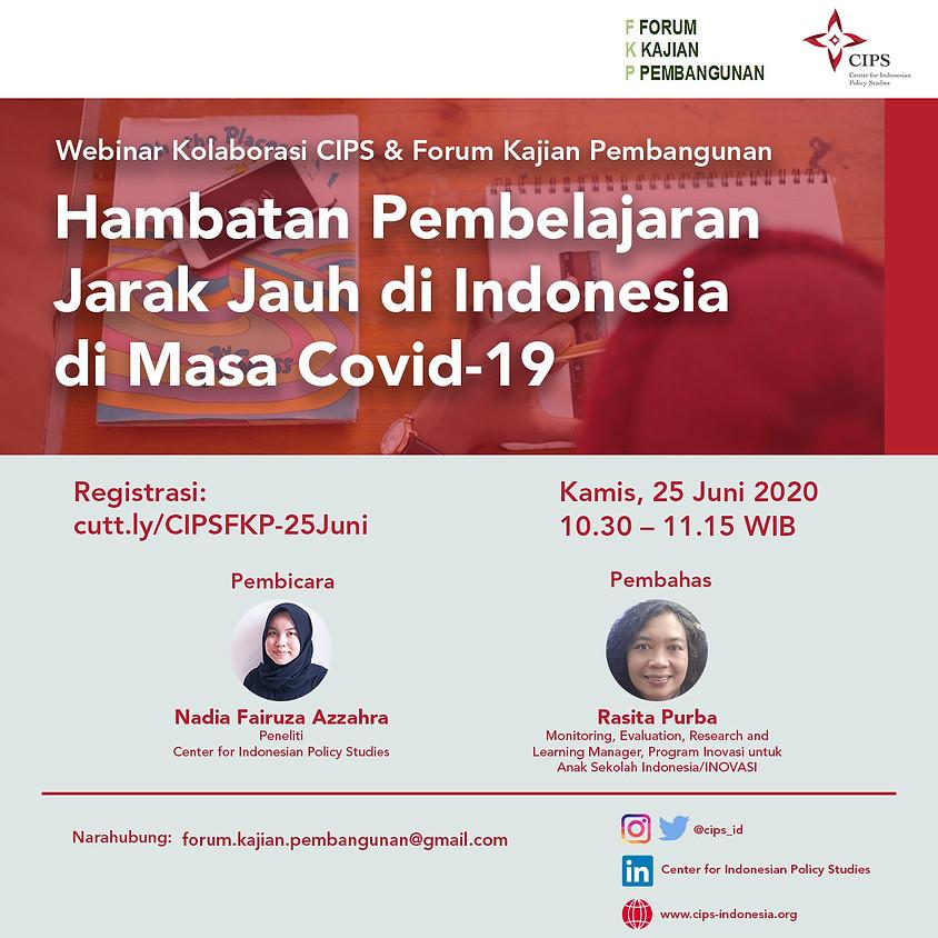 Hambatan Pembelajaran Jarak jauh di Indonesia di Masa Covid-19
