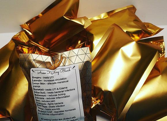 Bulk Lot Yoni Steam Herb Individual tear open packet Healing Blend Gold
