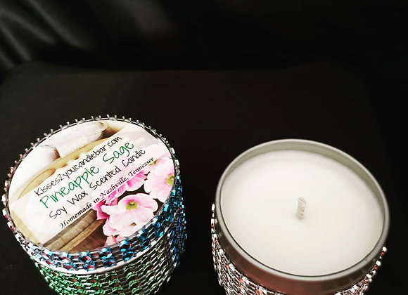 Pineapple Sage Soy Wax Scented Candle Gem