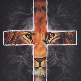 Acrylgemälde Löwe von Juda