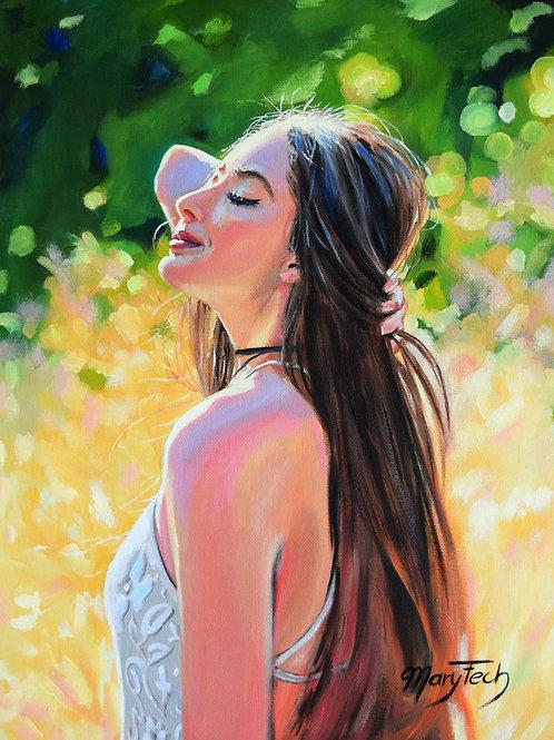 Summer feeling, Original Ölgemälde, 30 x 40 x 0,3 cm