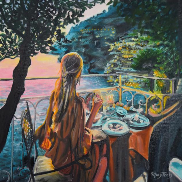 Sonnenuntergang Abendessen