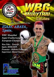 ISAAC ARAYA WBC Muaythai Europe.png