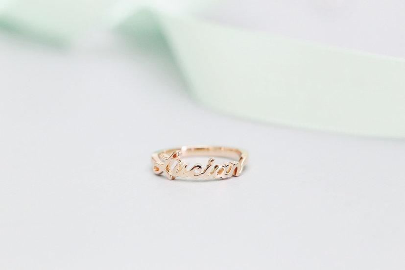 Tiny name ring