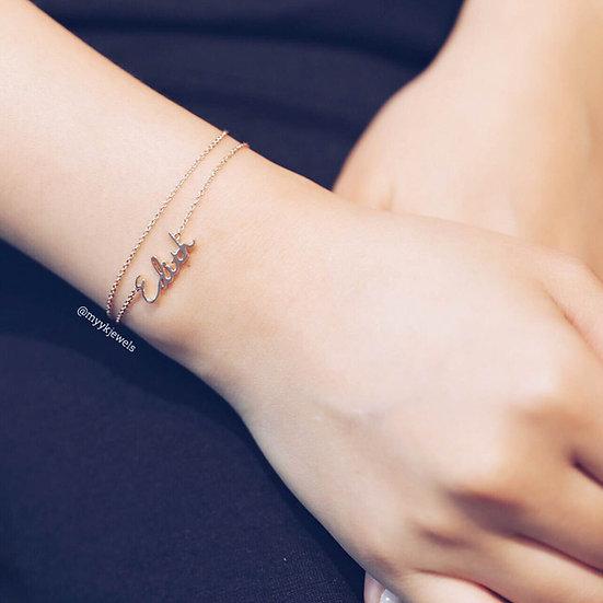 Tiny name bracelets