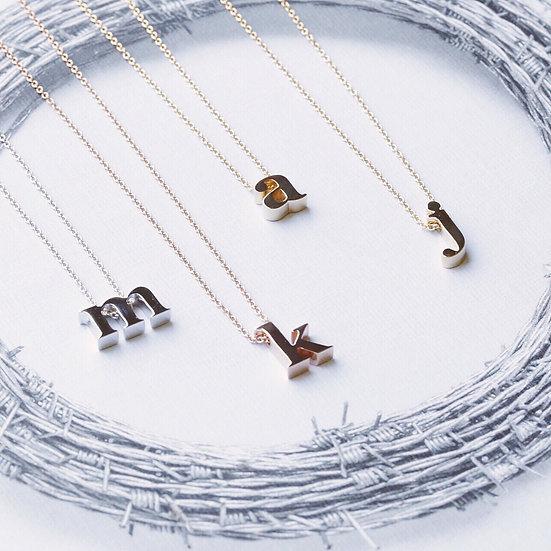 Tiny alphabet necklace