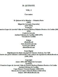 Don Quixote Vol. I