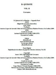 Don Quixote Vol. II