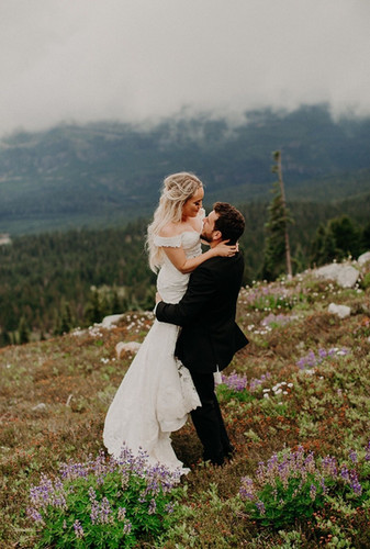 Mountain top LOVE #junebugwedding #weddi