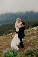 Mountain top LOVE #junebugwedding #weddi