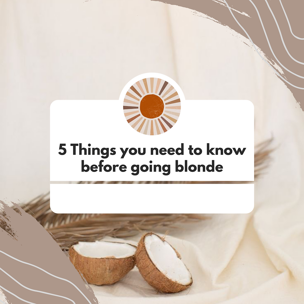 5 things you need to know before going blonde