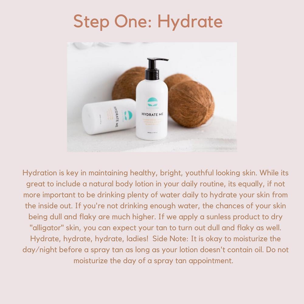 Step One - Hydrate