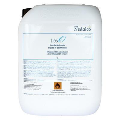 Désinfectant de surface - Nedalco - bidon de 5l.