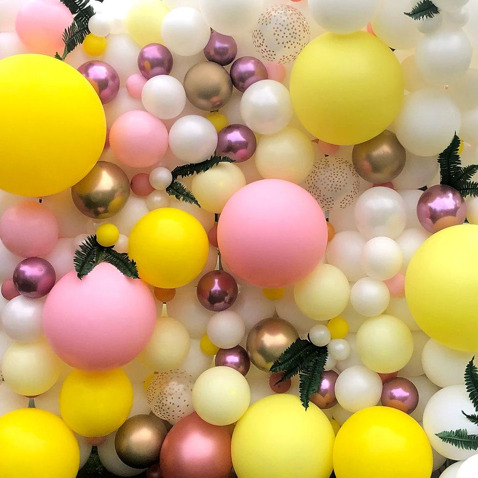 Pink and Yellow balloon wall.jpg