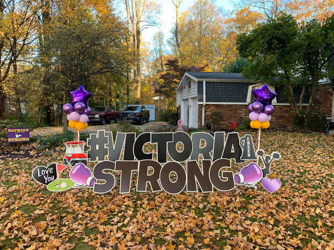 #VictoriaStrong Yard Card
