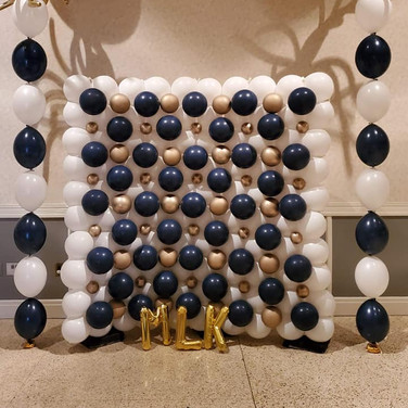 Gold and Navy Classic Backdrop