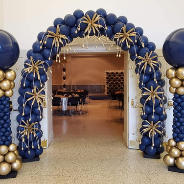 Navy and Gold Starbust Arch