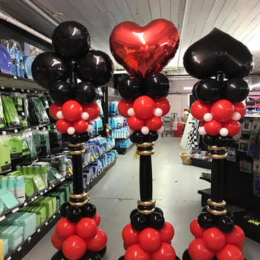 Casino themed Balloon Columns
