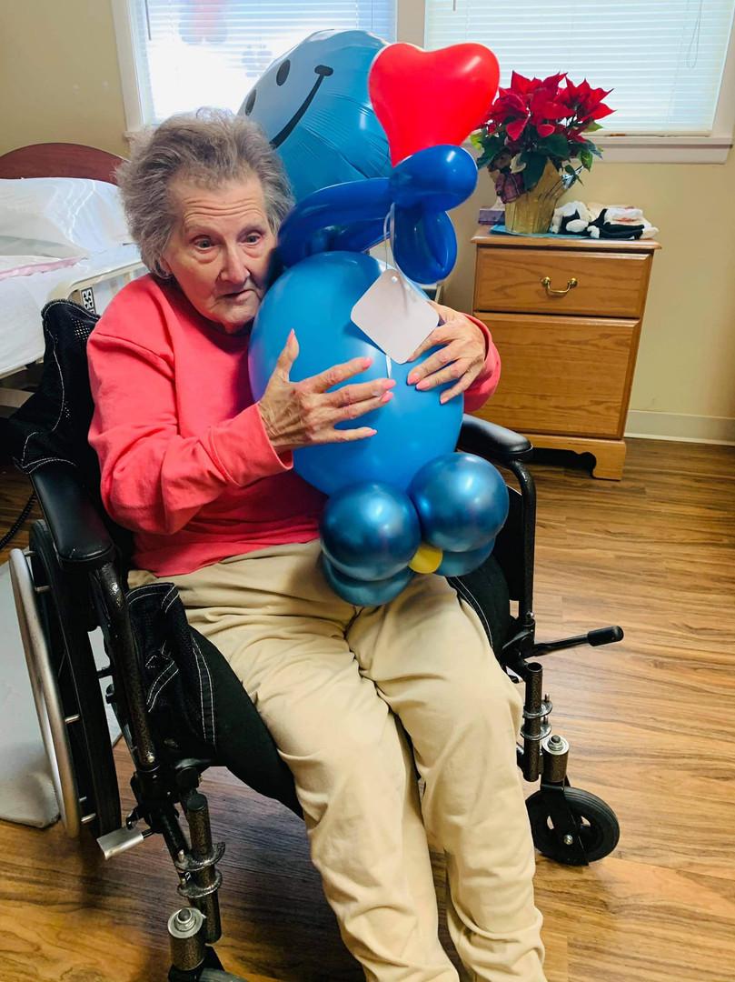 She loves her Balloon Buddy