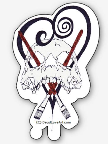 Dead Love Art Sticker (2)