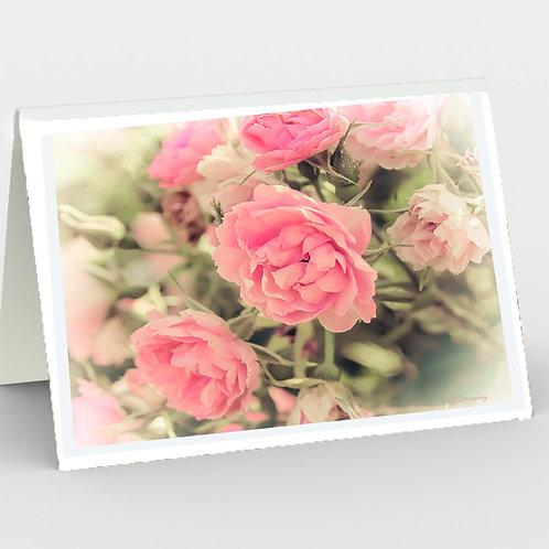 Vintage Rose Blank Note Card