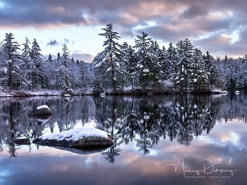 Early Morning Snow - Butler Lake Nova Scotia