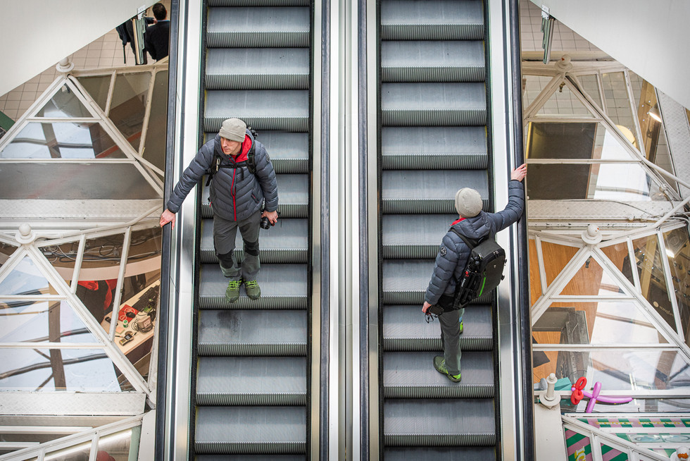 COLOUR - Travelator Twins by Keith Wilson ( 9 marks)