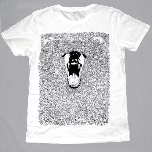 T-Shirt Grizzly Bear Screen Printed