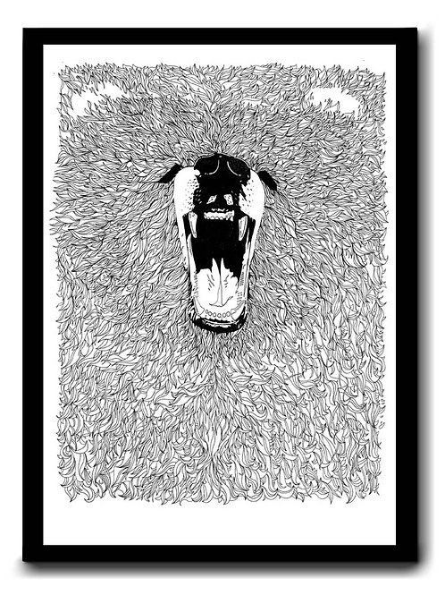 A3 Print Grizzly Signed