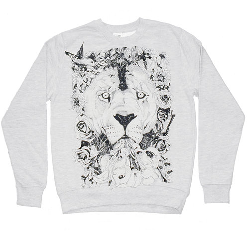 Floral Lion Screen Printed
