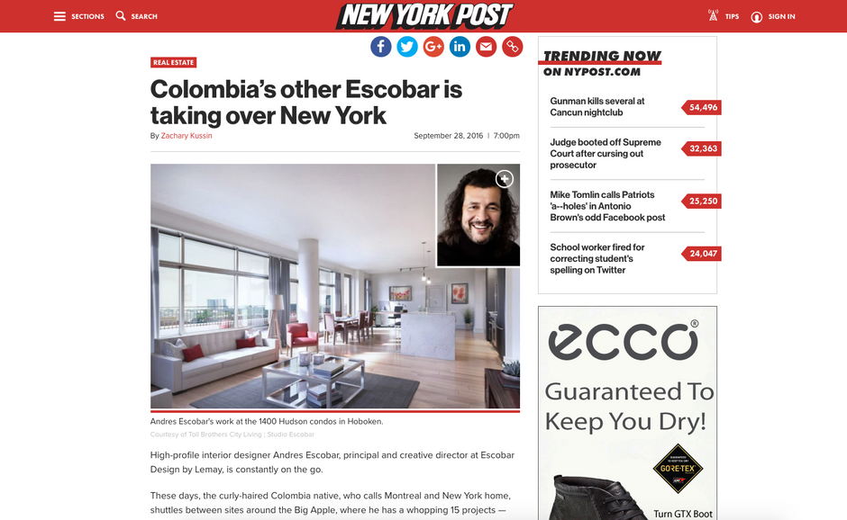 Colombia's other Escobar is taking over New York