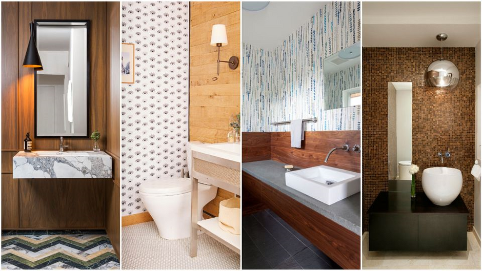 Designing a Standout Powder Room Guest bathrooms offer a place to have some fun with decor