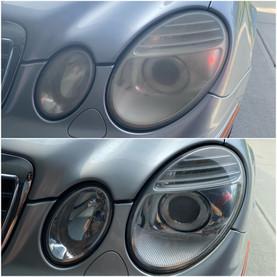 Headlight Restoration on a Mercedes sedan