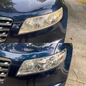 Headlight Restoration on a Infiniti SUV
