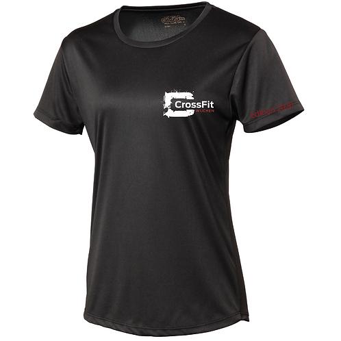 CrossFit 2020 (L) dames polyester t-shirt  + mondkapje