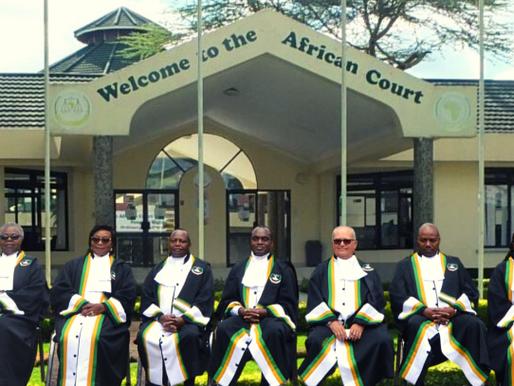 Tribunal Africano dos Direitos Humanos e dos Povos profere novos julgamentos em Junho