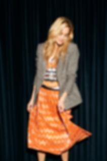 Caddis Fly nederdel mønster farver blazer print efterår tern